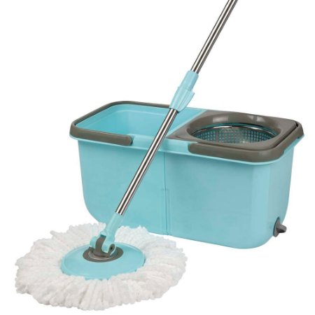 Mop Giratório Mor 008297 Inox 8.5LT azul e cinza