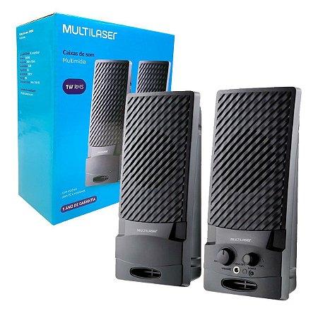 Caixa Multimídia SP050 Multilaser 2.0 1W RMS