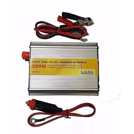 Inversor Automotivo LU-500W Lucky 12V para 110V