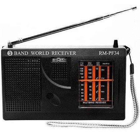 RADIO RM-PF34 MOTOBRAS 3 FAIXAS AM/FM 3W