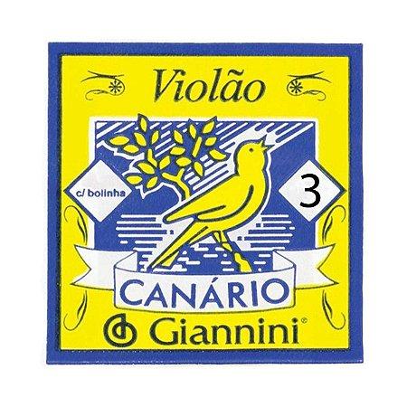 3ª Corda de Nylon para Violão Giannini GENWB3