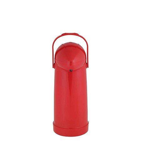 Garrafa Térmica de Pressão Nobile Mor 1L Vermelha