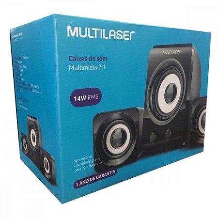 Caixa de Som Multilaser SP172 para Computador 14W