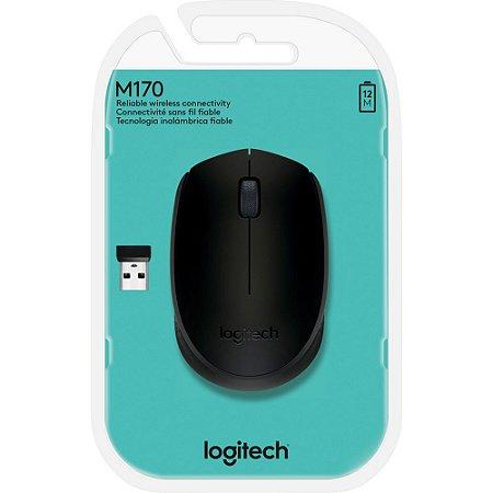 Mouse sem fio Logitech M170 1000DPI Preto