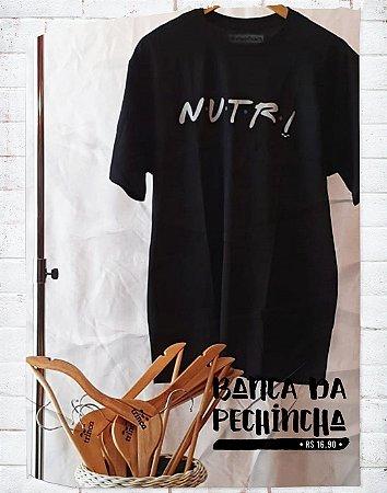 Camiseta Universitária - Nutrição - Friends - Preta - Basic