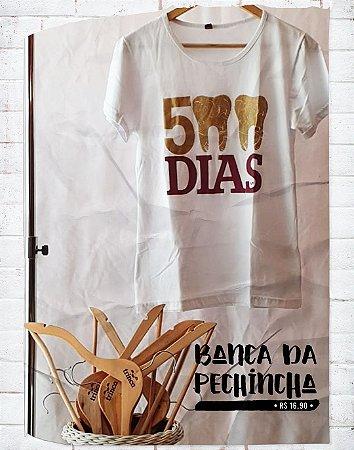 Camiseta Universitária - Odontologia - 500 dias - Branca- Basic