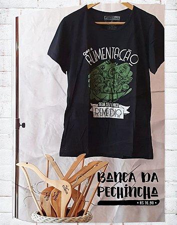 Camiseta Universitária - Nutrição - We are the Champions - Preta - Basic