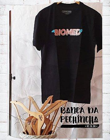 Camiseta Universitária - Biomedicina - Voe Alto - Preta - Basic