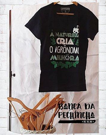 Camiseta Universitária - Agronomia - Agrolife - Preta - Basic