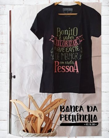 Camiseta Universitária - Estética - Beleza Interior- Preta - Basic