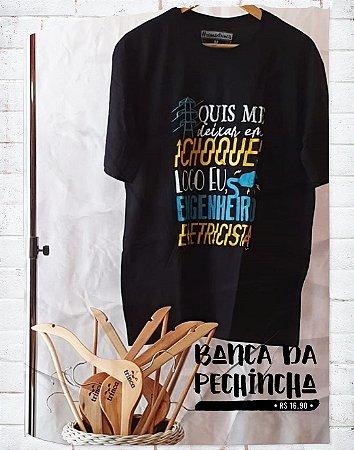 Camiseta Universitária - Engenharia  Elétrica - Alta Tensão - Basic