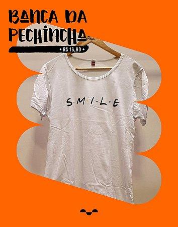 Camiseta Personalizada - Smile - Branca - Basic