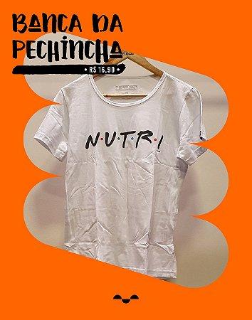 Camiseta Universitária - Nutrição - Friends - Branca - Basic