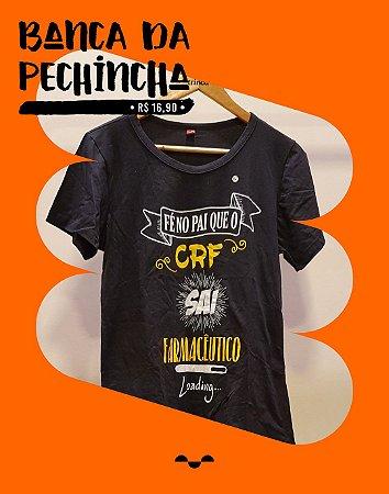 Camiseta Universitária - Farmácia - Fé no pai - Preta - Basic