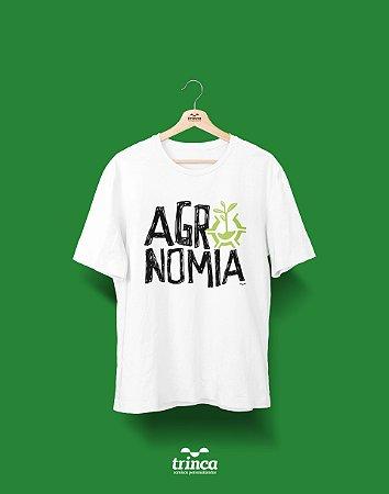 Camisa Agronomia - Quem Planta Colhe - Branca - Premium