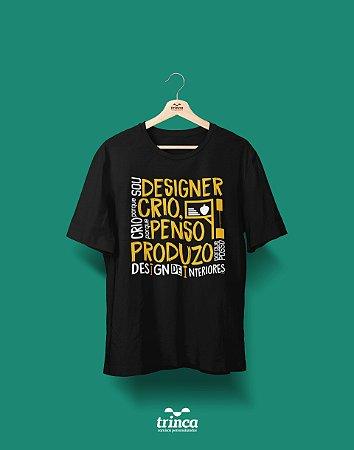 Camisa Universitária Design de Interiores - Me contrata - Basic