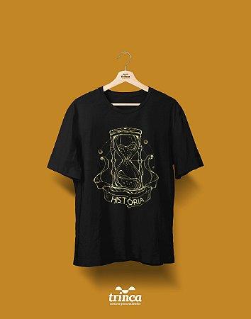 Camisa Universitária História - Areias do Tempo - Basic