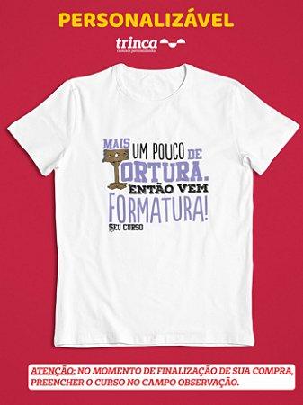 Camisa Universitária - Personalizável - Só vem - Branca - Basic