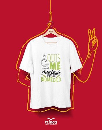 Camiseta Universitária - Biomedicina - Analisaê - Basic