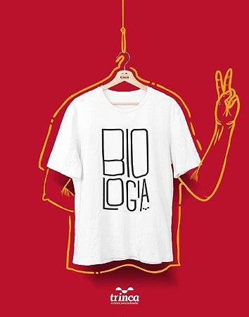 Camiseta Universitária - Biologia - Minimal - Basic