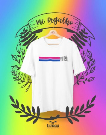Camiseta Personalizada - Bissexual Sem Medo - Me Orgulho - Basic
