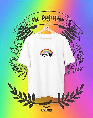 Camiseta Personalizada - Rainbow - Me Orgulho - Basic