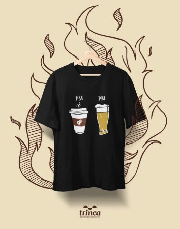 Camiseta Personalizada - Café - AM PM - Basic
