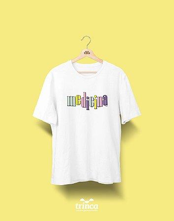 Camiseta Universitária - Medicina - 90's- Basic