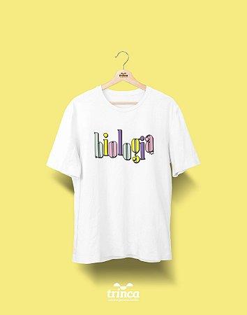 Camiseta Universitária - Biologia - 90's- Basic