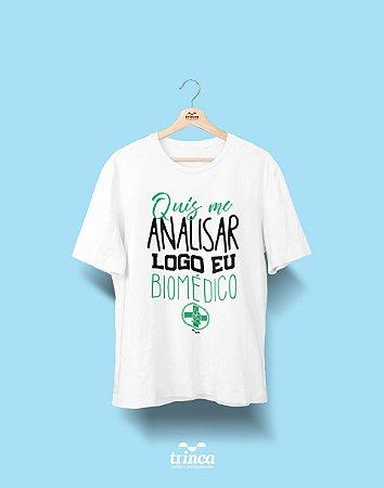 Camisa Universitária Biomedicina - Bioanálise - Basic