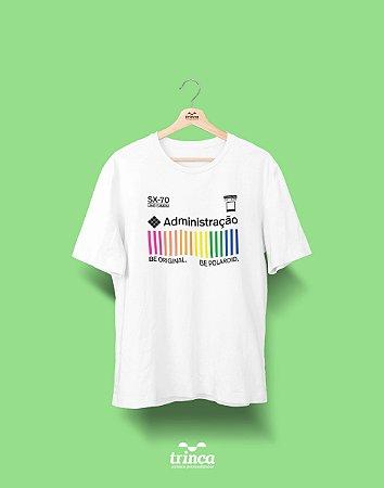 Camiseta Universitária - Administração - Polaroid - Basic
