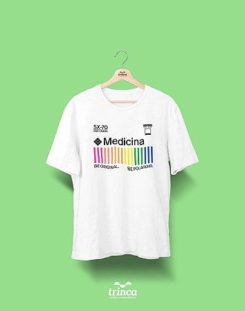 Camiseta Universitária - Medicina - Polaroid - Basic
