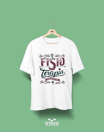 Camisa Universitária Fisioterapia - Reabilitando Vidas - Basic