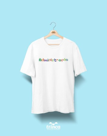 Camiseta Universitária - Administração - Origami  - Basic
