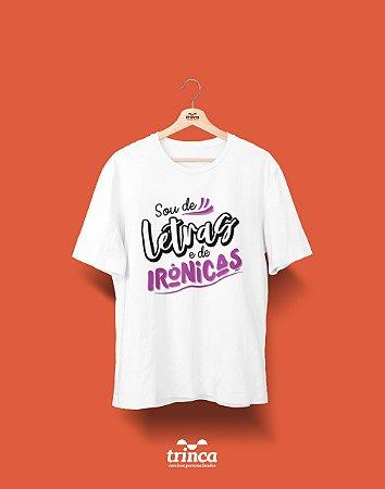 Camisa Universitária Letras - Irônicas - Basic