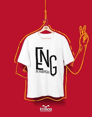 Camiseta Personalizada - Minimal - Engenharia de Produção - Basic