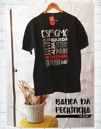 Camiseta Universitária - Enfermagem - Meia Palavra Basta - Basic