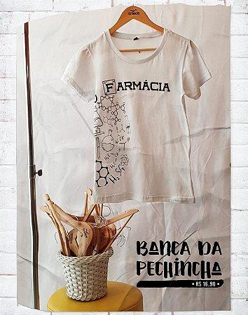 Camiseta Universitária - Farmácia - Moléculas - Basic