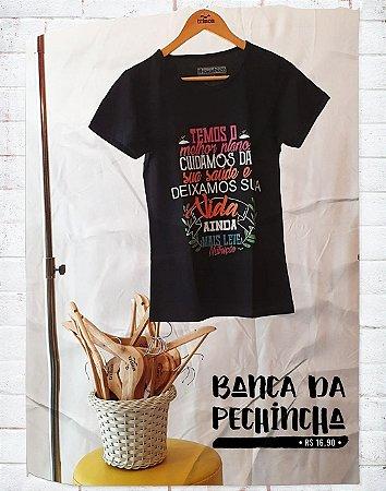 Camiseta Universitária - Nutrição - Pode confiar - Basic