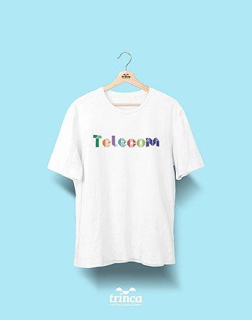 Camiseta Universitária - Telecomunicações - Origami - Basic