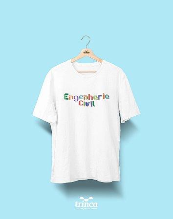 Camiseta Universitária - Engenharia Civil - Origami - Basic