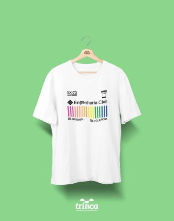 Camiseta Universitária - Engenharia Civil - Polaroid - Basic