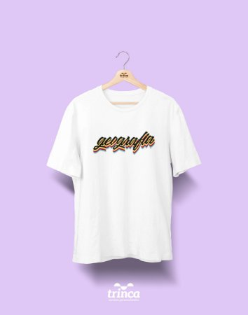 Camiseta Universitária - Geografia - Grafite - Basic