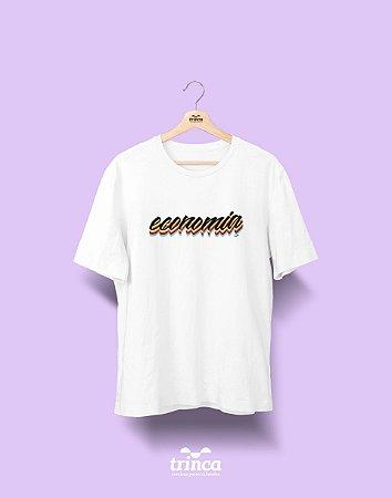 Camiseta Universitária - Economia - Grafite - Basic