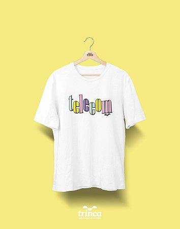 Camiseta Universitária - Telecomunicações - 90's - Basic