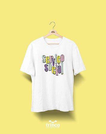 Camiseta Universitária - Serviço Social - 90's - Basic