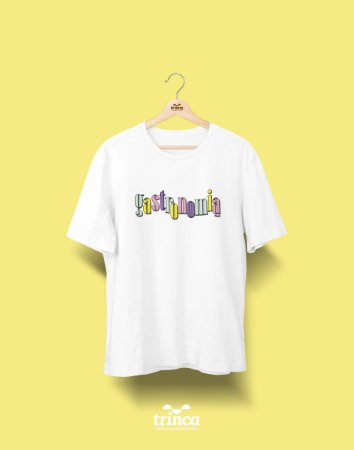 Camiseta Universitária - Gastronomia - 90's - Basic