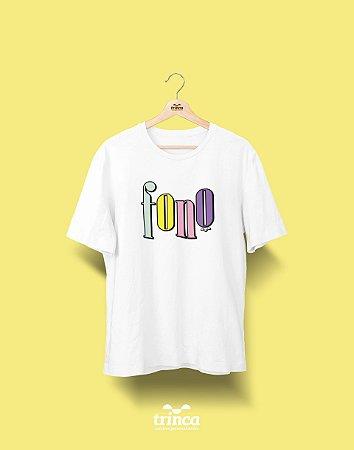 Camiseta Universitária - Fonoaudiologia - 90's - Basic