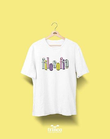 Camiseta Universitária - Filosofia - 90's - Basic