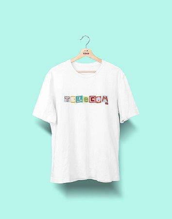 Camiseta Universitária - Telecomunicações - Colagem - Basic
